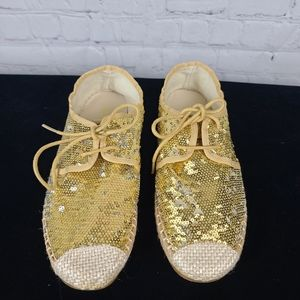 Nature Breeze Gold and Silver Sequin flats…
